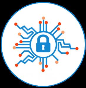 Icône de la sécurité informatique et cybernétique